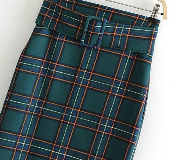Plaid You Along Skirt