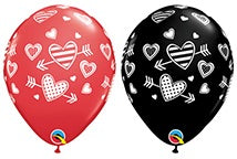 Hearts & Arrows Latex Balloons