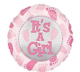 it's a girl 18 inch Mylar balloon Build your own balloon bouquet