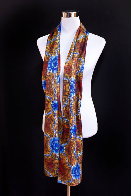 Chiffon scarf- Hills and Waterholes