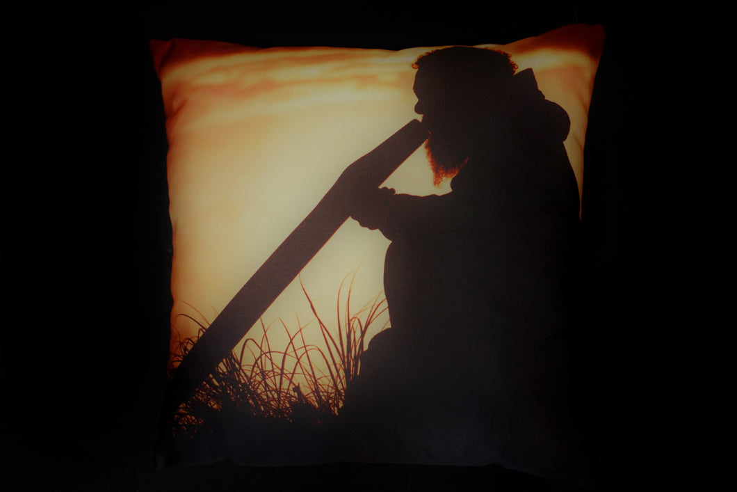 Cushion - Didgeridoo silhouette