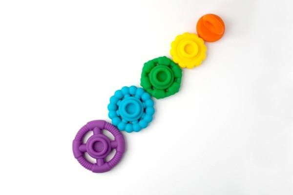 JELLYSTONE DESIGNS Rainbow Stacker Teether & Toy