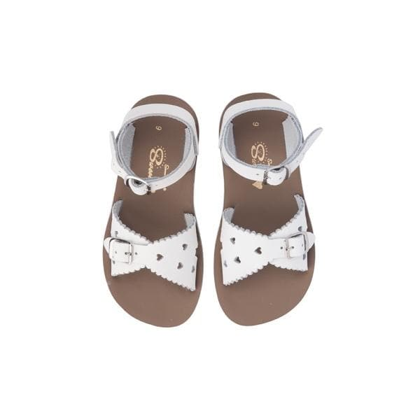 SALT WATER SANDALS for Kids | Sun San Sweetheart - White