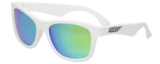 BABIATOR KIDS SUNGLASSES | Aces Navigator - White Frames Green Lenses
