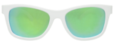 Aces Navigator - White Frames Green Lenses