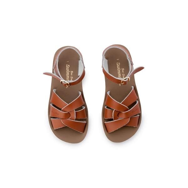 SALT WATER SANDALS for Kids | Sun San Swimmer - Tan