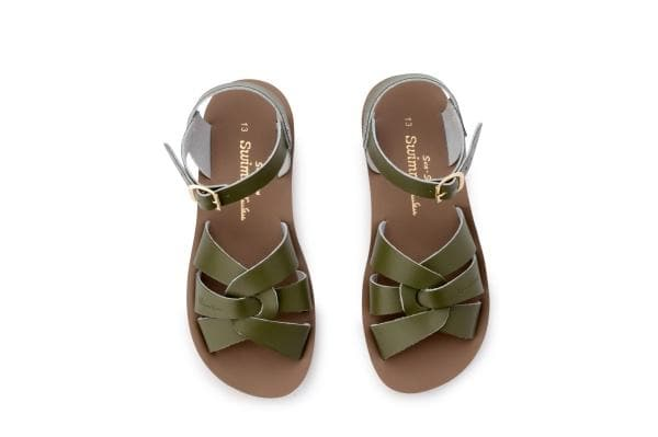 Salt Water Sandals for Kids | Sun San Surfer - Olive