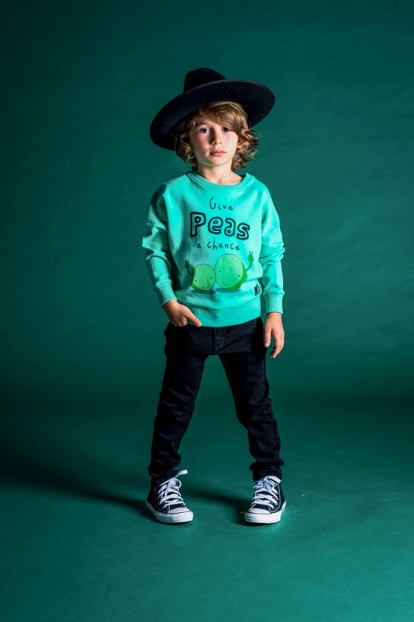 Child wearing ROCK YOUR BABY Black Hooligan Denim Jeans