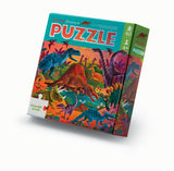 CROCODILE CREEK Foil Puzzle 60 pc - Dazzling Dinos