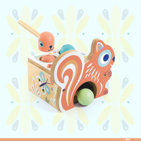 DJECO Baby Nut Wooden Tap Tap Game