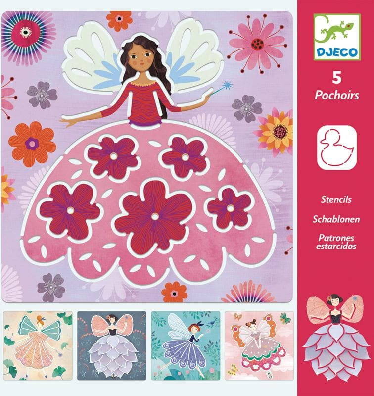 DJECO : Fairies Stencils