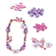 Colourful Butterfly Wooden Beads