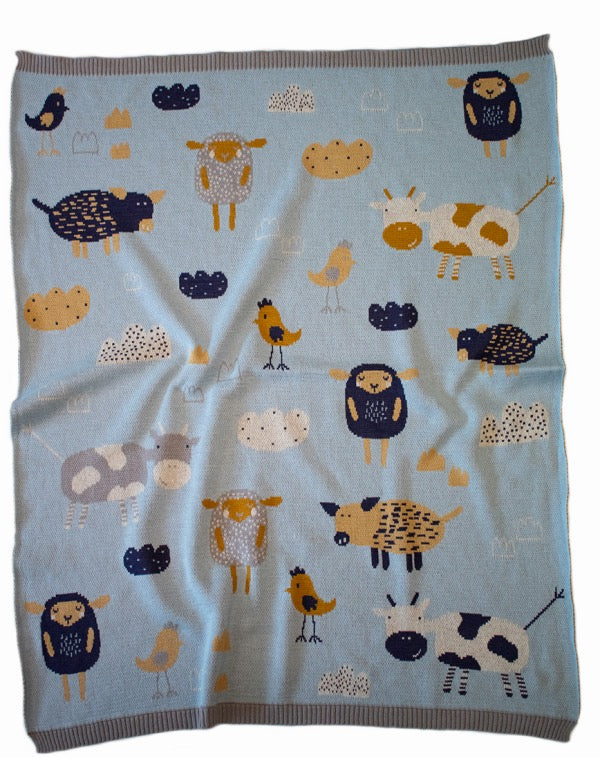 INDUS DESIGN Farmyard Blanket
