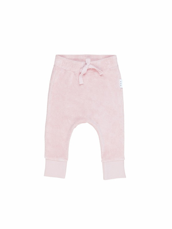 HUXBABY Rose Terry Play Pant