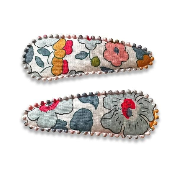 JOSIE JOAN'S | Izzy Hair Clips for girls - Liberty print snap clips