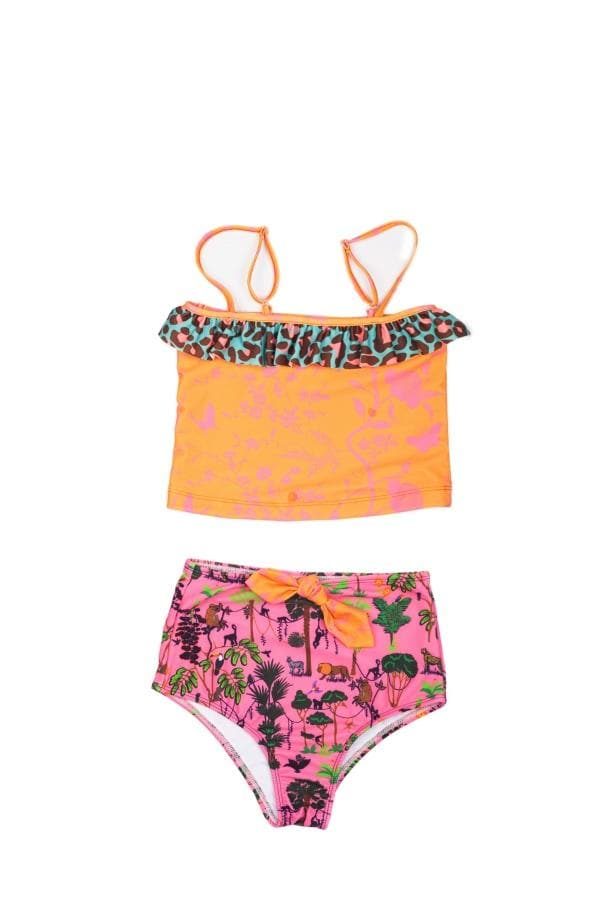 OLGA VALENTINE SWIMWEAR | Jungle Pink Tank Top Bikini