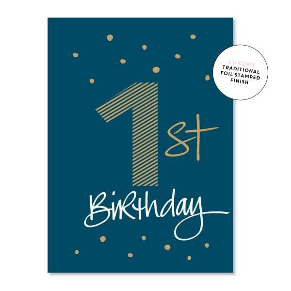 JUST SMITTEN CARDS | First Birthday Boy Card