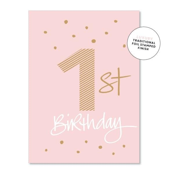 JUST SMITTEN CARDS | First Birthday Girl Card