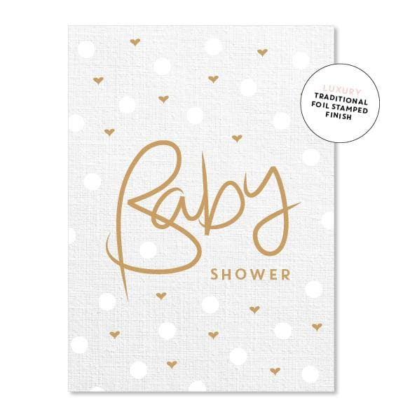 JUST SMITTEN CARDS | Baby Shower Linen Polkadot