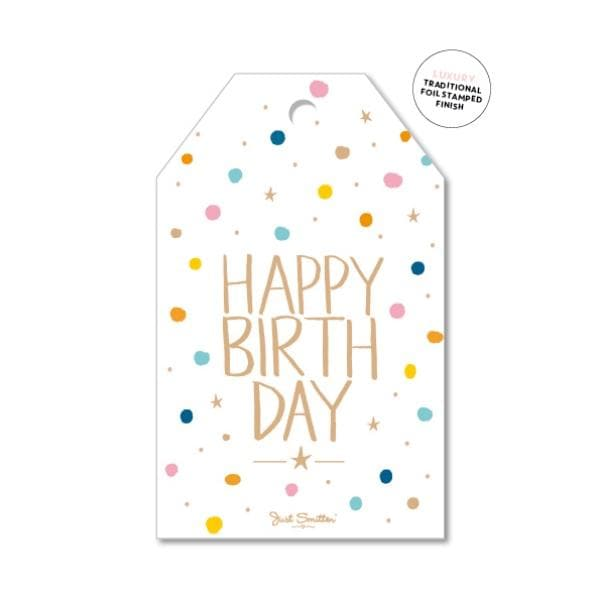 JUST SMITTEN CARDS | Confetti Birthday - Birthday Girl Gift Tag