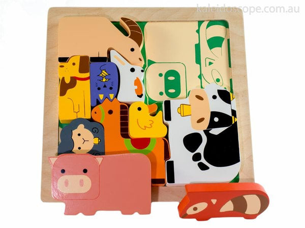 KIDDIE CONNECT : Farm Animal Chunky Puzzle