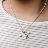 LAUREN HINKLEY Flying Unicorn Necklace