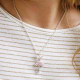 LAUREN HINKLEY Pink Ballerina Necklace