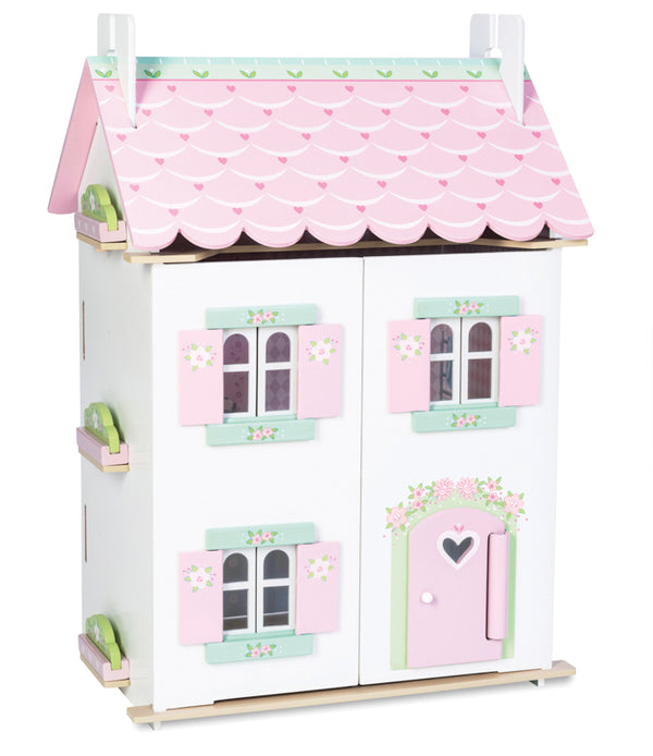 LE TOY VAN Daisylane Sweetheart Cottage with furniture