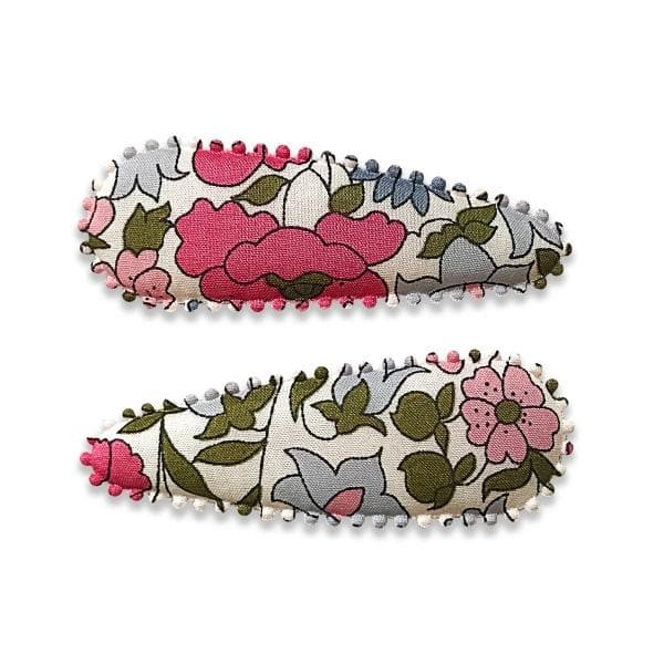 JOSIE JOAN'S | Lulu Hair Clips for girls - Liberty print snap clips