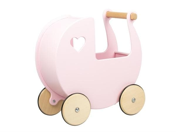 MOOVER | Classic Dolls Wooden Pram - Pink