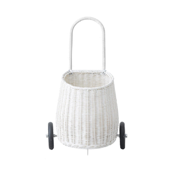 OLLI ELLA | Luggy - White Kids Wheelie Basket