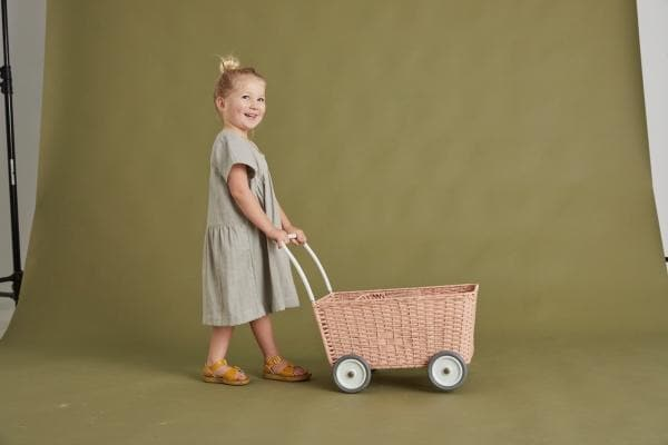 OLLI ELLA | Strolley - Rose | Dolls pram/trolley