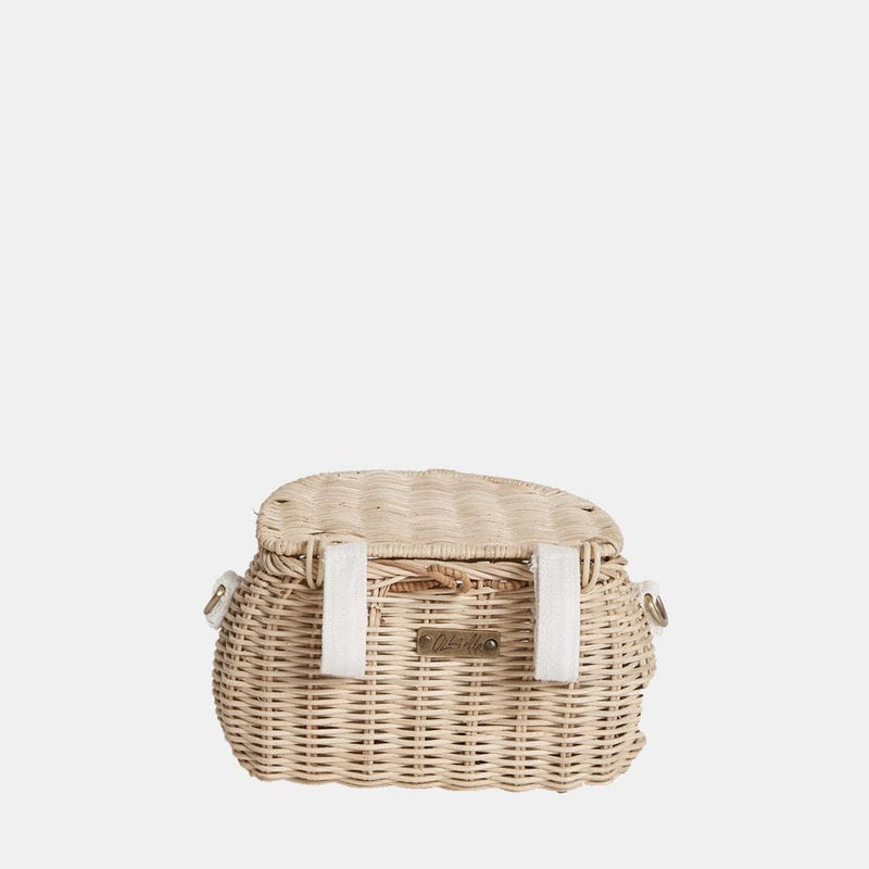 OLLI ELLA | Mini Chari - Straw | Backpack Shoulder bag Scooter Bike basket