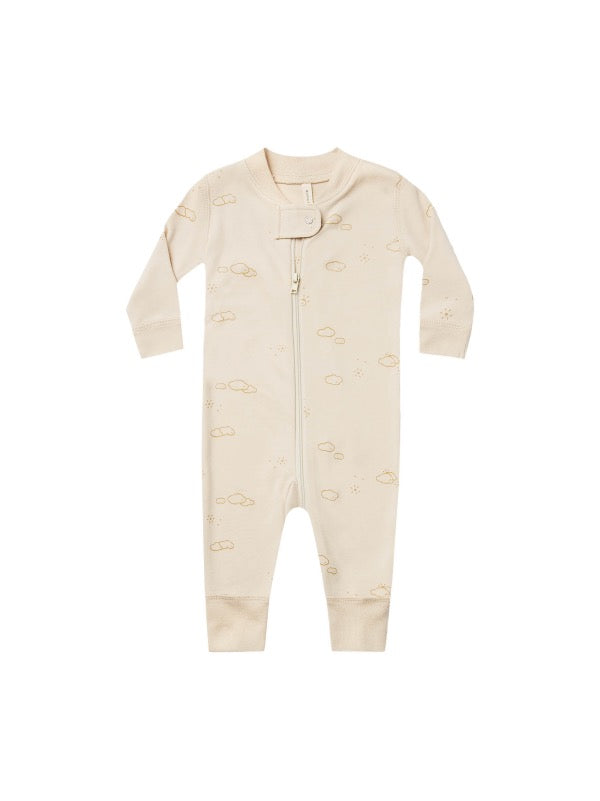 QUINCY MAE Zip Longsleeve Sleeper - Natural