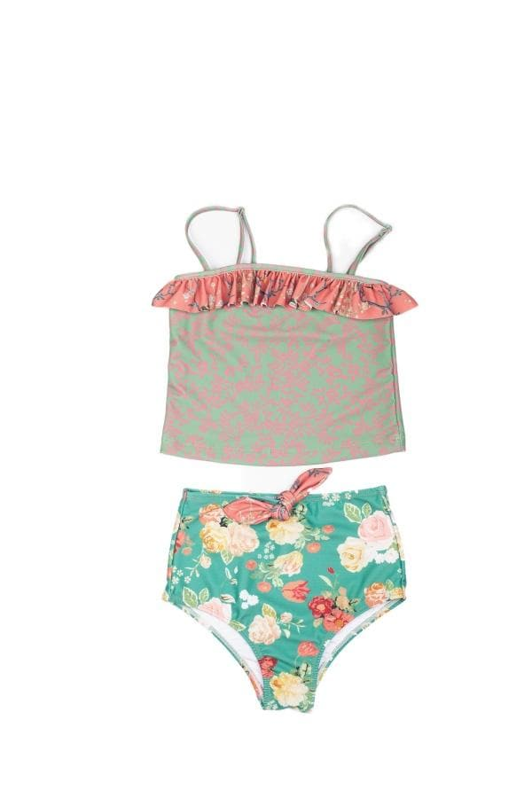 OLGA VALENTINE SWIMWEAR | Rosie Antique Rose Tank Top Bikini