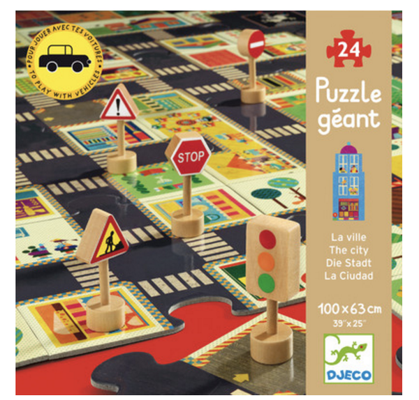 DJECO Puzzle - Pop to Play City Road 24pc