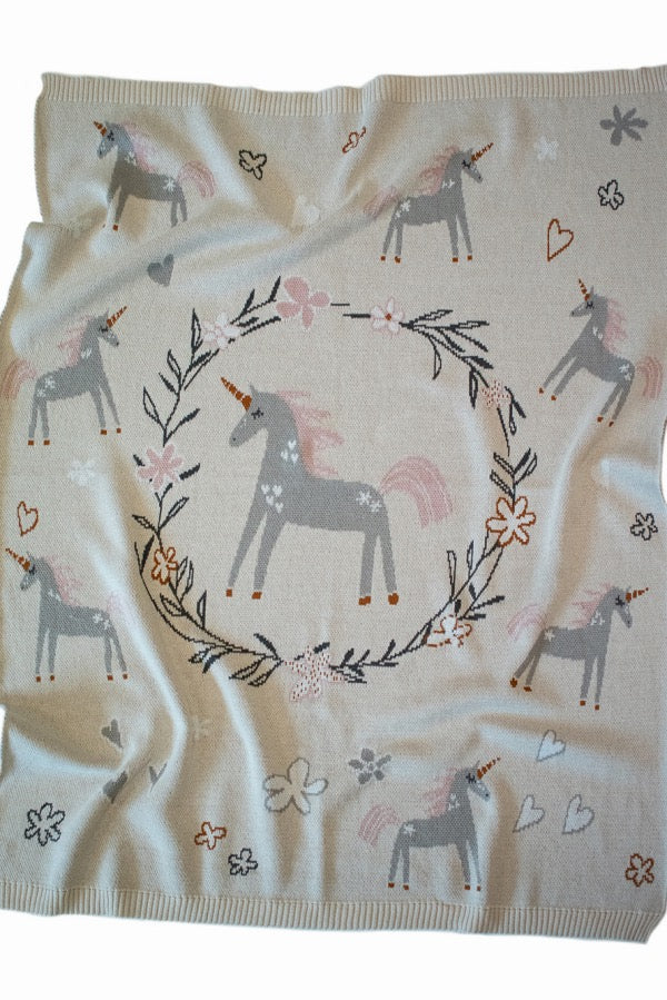 INDUS DESIGN Unicorn Blanket