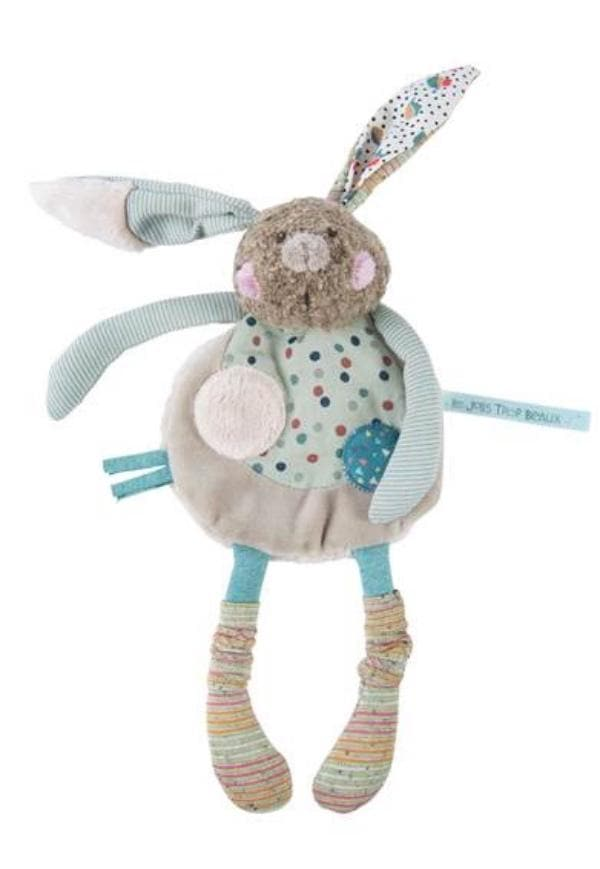 Moulin Roty Les Jolis Trop Beaux – Rabbit comforter with arms