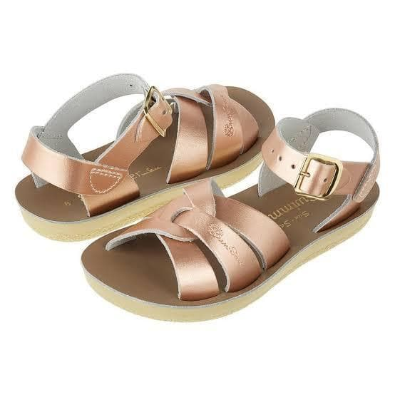 Salt Water Sandals for Kids | Sun San Surfer - Rose Gold