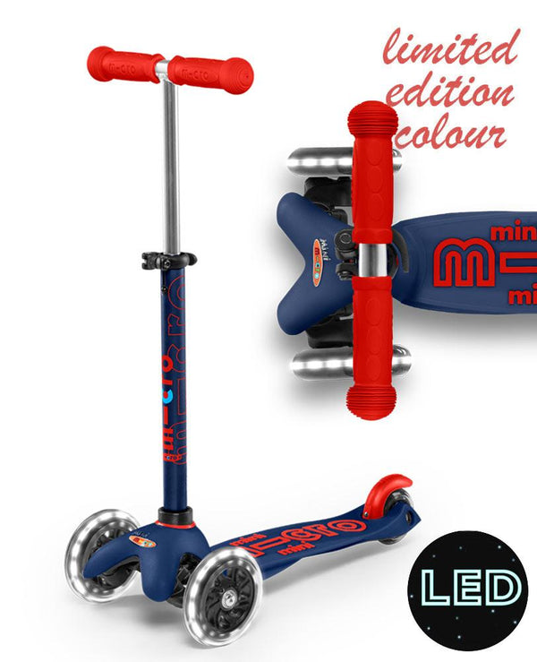 MICRO SCOOTERS Mini Micro Deluxe LED - Navy Blue