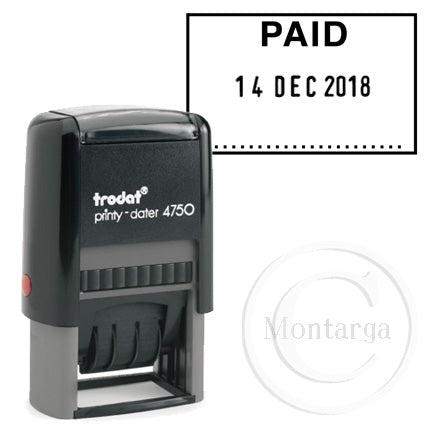 Dater 4750 PAID Trodat Self Inking Stamp