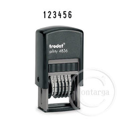 .6 Bands - 4mm High 4836 Trodat Self Inking Stamp