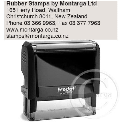4915 Printy 25 x 70mm - Custom Trodat Self Inking Stamp