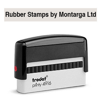 Narrow 10 x 69mm - 4916 Custom Trodat Self Inking Stamp