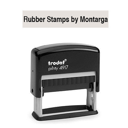 Narrow 10 x 50mm -  4917 Custom Trodat Self Inking Stamp