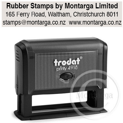 4918 Printy 15 x 75mm - Custom Trodat Self Inking Stamp