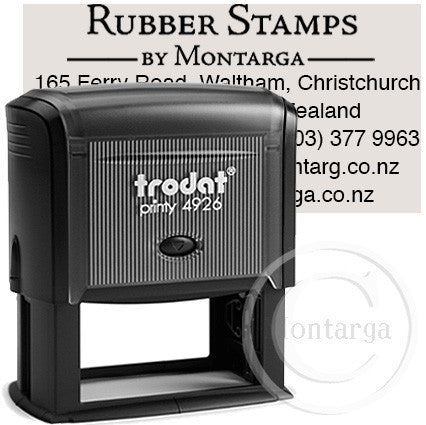 4926 Printy 38 x 75mm - Custom Trodat Self Inking Stamp