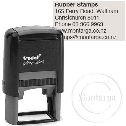 4941 Printy 24 x 41mm - Custom Trodat Self Inking Stamp