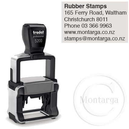 5200 - 24 x 41mm Professional Trodat Self Inking Stamp