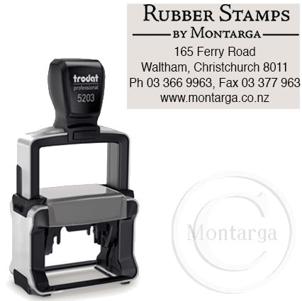 5203 - 28 x 49mm Professional Trodat Self Inking Stamp